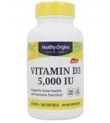 Healthy Origins 維生素D3 - 5,000 IU* 360粒 - Vitamin D3