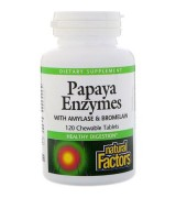 Natural Factors 木瓜酵素 *120咀嚼片 - Chewable Papaya Enzymes