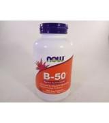 NOW Foods 維他命B-50 (維生素B群) 50 mg* 250 素食膠囊 b50
