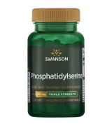 swanson 三倍強效腦磷脂 ~PS  300mg *30粒 -Phosphatidylserine