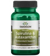 swanson  有機螺旋藻+ 蝦紅素 *120素食錠 - Organic Spirulina & Astaxanthin