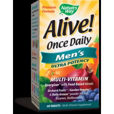 Nature's Way   男性多元維生素  *60片- 營養豐富 維他命 Alive!  Men's Multi-Vitamin 上班族 外食族適用