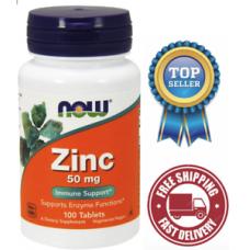Now Foods  高單位 鋅錠  50mg *100錠 - Zinc