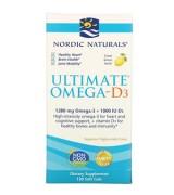 Nordic Naturals Ultimate®Omega -D3™強魚油+D3*120粒檸檬味 - (1280毫克Omega-3 + 1000 IU D3)