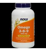 NOW Foods   omega 369 - 1000 mg*250粒- 含:亞麻籽油、亞麻籽油、黑加侖、魚油 Super Omega 3-6-9