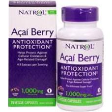 NATROL 4倍濃縮巴西莓 AcaiBerry --1000mg * 75顆加量裝(素食膠囊)