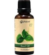 Vitacost 100%純 羅勒 精油 * 1 fl oz (30 mL) - 100% Pure Basil Oils