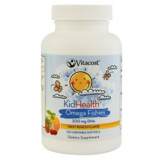 VITACOST 兒童魚油 DHA - 200mg *120粒軟膠囊裝 - KidHealth Omega Fishies