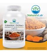 Nature's Lab™  薑黃素萃取 含: 薑黃素C3複合物 *120顆素食膠囊 -Turmeric Extract Curcumin C3