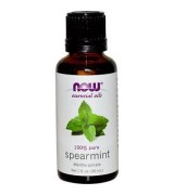 NOW Foods 100%純 薄荷 精油 * 1 fl oz (30 mL) ~ Spearmint 冷卻,振奮,刺激。