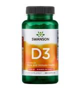 Swanson 維他命 D -3  2000 IU*250顆 - 維生素D3