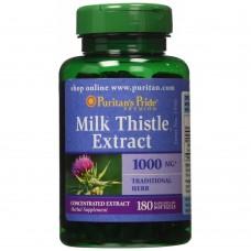 Puritan's Pride  4倍濃縮牛奶薊萃取 4:1-- 1000mg * 180粒 - Milk Thistle (Silymarin) Extract