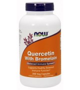 NOW Foods 槲皮素 + 鳳梨酵素 * 240 顆 Quercetin with Bromelain 槲黃素 洋蔥素 檞黃素 檞皮素