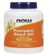 NOW Foods  天然南瓜子油 (南瓜籽油) 1000mg*100粒~Pumpkin Seed Oil