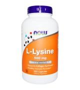 Now Foods   左旋離氨酸  (500 mg *250顆) - L-Lysine 離胺酸 賴氨酸 賴胺酸