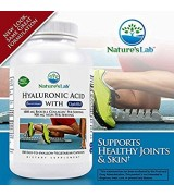 Nature's Lab™ 玻尿酸+膠原蛋白 透明質酸 -180顆素食膠囊 - Hyaluronic Acid 促進皮膚保濕和潤滑關節--含: 水解膠原蛋白II型 硫酸軟骨素