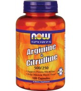 NOW Foods    精氨酸+瓜氨酸  500mg/250mg  *120 顆 - Arginine & Citrulline