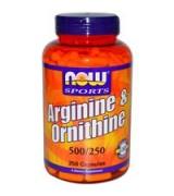 NOW Foods   精氨酸+鳥氨酸 500mg/250mg * 250顆 - 精胺酸 Arginine + Ornithine
