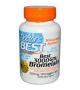 Doctor's Best  高效能鳳梨酵素- 3000GDU-  500mg* 90 顆素食膠囊 - Bromelain