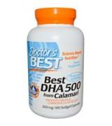 **效期2021/12**Doctor's Best   頂級 DHA  雙分子蒸餾 500mg *180粒  -  DHA 500 加強記憶