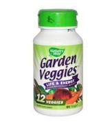** 效期至2021/10月**   Nature's Way  綜合蔬菜補充  *60顆素食膠囊 含:12種蔬菜  - Garden Veggies