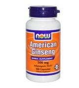 NOW Foods    西洋蔘  500 mg* 100顆 - American Ginseng