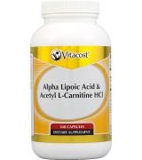 Vitacost  硫辛酸+乙酰左旋肉鹼  *240顆 - Alpha Lipoic Acid & Acetyl L-Carnitine HCl