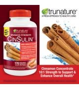 TruNature  100%天然精華血糖控制營養素  *170顆  - CinSulin 含:肉桂