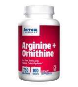Jarrow Formulas  精氨酸+鳥氨酸 750mg* 100錠 - 精胺酸 Arginine + Ornithine
