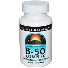 Source Naturals  B-50  *100錠 -  B-50 Complex