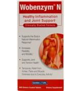Wobenzym N  身體炎症和關節健康天然酵素  *800錠 -  緩解肌肉疼痛 酸痛