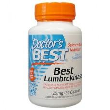 Doctor's Best   蚓激酶 20mg *60顆 - Best Lumbrokinase 心血管健康 地龍酵素