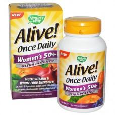 Nature's Way  50歲以上女性多種維生素 *60錠 - Alive!  Women's 50+ 含:26種水果和蔬菜 22種維生素和礦物質