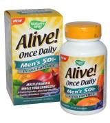 Nature's Way  50歲以上男性多種維生素 *60錠 - Alive!  Men's 50+ 含:26種水果和蔬菜 23種維生素和礦物質