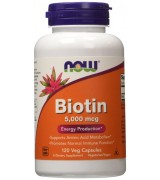 NOW Foods  生物素 5000 mcg* 120顆~ Biotin 維生素H