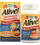 Nature's Way   兒童多種維生素  *120咀嚼片-  Alive! Children's Multi-Vitamin