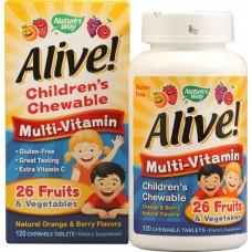Nature's Way   兒童多種維生素  *120咀嚼片-  Alive! Children's Multi-Vitamin