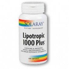 SOLARAY  抗脂肪肝 1000 Plus™ * 100顆 -  Lipotropic