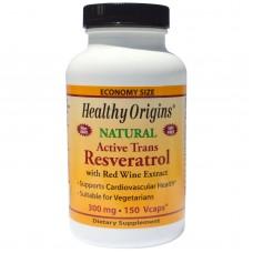 Healthy Origins  天然活性白藜蘆醇300毫克*150顆素食膠囊 - Natural Active Trans Resveratrol 含紅酒多酚萃取