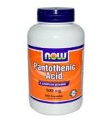 NOW Foods  泛酸 維他命B 5 - 500mg*250顆 - Pantothenic Acid  維生素B5