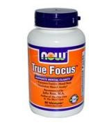 NOW Foods   腦力專注配方 * 90顆素食膠囊  -  True Focus