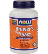 NOW Foods  啤酒酵母 650 mg * 200錠 - Brewer's Yeast