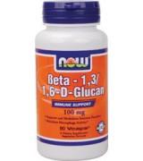 NOW Foods β-聚葡萄糖100mg +舞茸160 mg * 90 顆~素食膠囊 β-葡聚醣 舞菇 β-多醣體Beta-1,3/1,6-D-Glucan