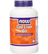NOW Foods  鱈魚肝油 650mg*250粒- Cod Liver Oil