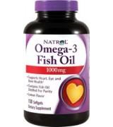 Natrol Omega-3 魚油 1000mg * 150粒 (分子蒸餾 天然檸檬味)