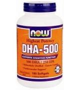 NOW Foods  DHA-500 ( EPA - 250 ) *180粒 Omega 3
