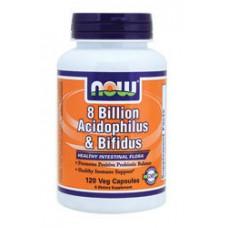 NOW Foods  80億 複合式益生菌 (*120顆) Now 8 Billion Acidophilus & Bifidus