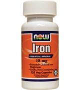 Now Foods 鐵 Iron  (18mg*120顆) -素食膠囊
