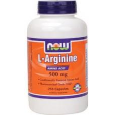 Now Foods L-Arginine 左旋精氨酸 (500mg* 250粒) ~精胺酸