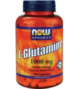 NOW Foods  左旋麩醯胺酸 顧他命1000 mg* 120 顆 L-Glutamine